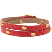SOLD--Hudson Leather Wrap, Red $22