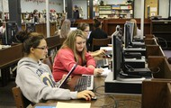 Classes have been busy learning in the library