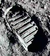 Neil Armstrong's footprint.