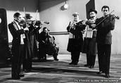 Titanic band playing while Titanic sank