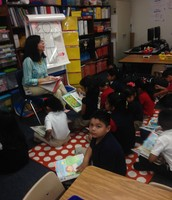 Mrs. Steer's class was identifying Story Elements! Academic vocabulary was very evident.