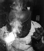 In this photo is a welder which is the job my great grandfather had during WW2.