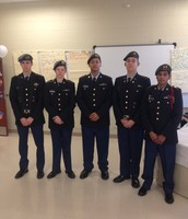 BGHS JROTC Color Guard Members ready to present the colors at TC Cherry
