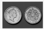 Lead coin