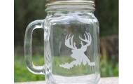 Deer Mason Jar