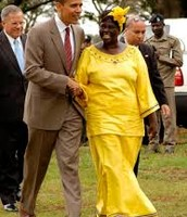 Wangari Maathai with President Obama