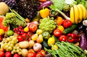 FROM VEGGIES AND FRUITS