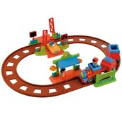 £30 Happyland Country Village train set plus extension track