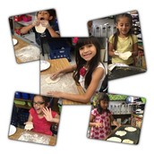 "1st grade Panthers working on a ""how to"" while making homemade tortillas!"