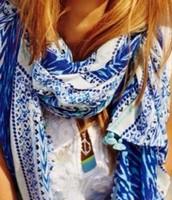 Mauritius indigo scarf