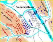 Battle of Fredericksburg Map