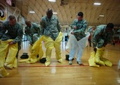 Soldiers Training to Work with Ebola Patients