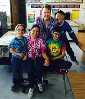 Ms. Hoskins class wearing their tie-die