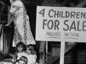 A mother sales her kids for money