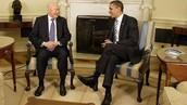Mr Lee talking with Barack Obama