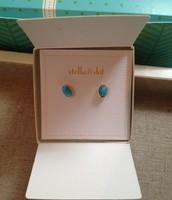 Delphie Stone Studs - Turquoise $12.00