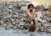 Brother and sister in poverty