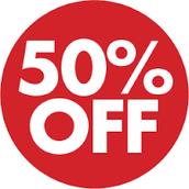 fantastic 50% off for all sub-machine guns