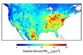 NASA Image of North America and Smog Concentration