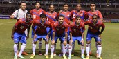 El equipo de Costa Rica