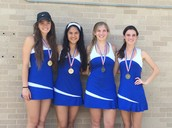 Both Girls Doubles Tennis Teams Advance to State!