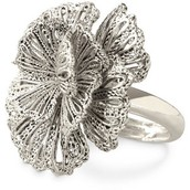 Geneve Lace Ring - Silver