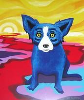 Blue Dogs in Art