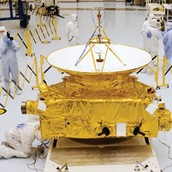 Actual size of spacecraft