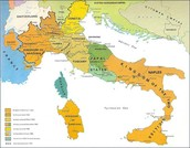 Map of Italy, pre-unification