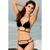 Stylish Halter Hollow Out Bikini Set For Women 44.99$