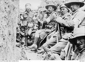 Men in the trenches at Gallipoli