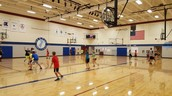 7th grade hoops in PE