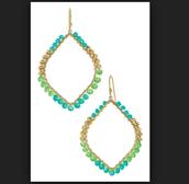 Raina earrings in turquoise/green