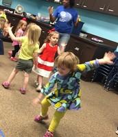Anndi dancing in Music