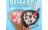 New! Blizzards in waffle cones!