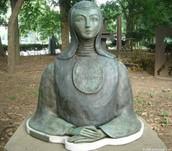 A bust of Sor Juana
