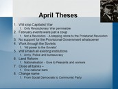 The main points of Lenin's 'April Theses'