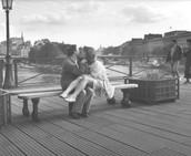 Paris Pont Des Arts, 1990