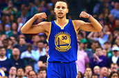 Stephan Curry's three point shot dance is muscle flex!
