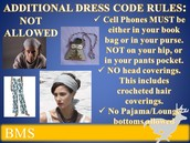 ADDITIONAL DRESS CODE RULES