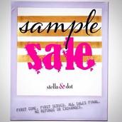 SAMPLE SALE!!