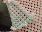 Blanket for baby handmade. for pram/capsule 90 x90cm
