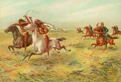 SOLDIERS PURSUING NATIVE AMERICANS