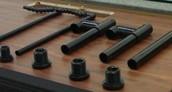 Black PVC Overflow Kit