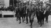 Hitler marches to the reichstag in Berlin
