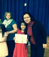 Emily Umana, 3-A, and Ms. Garcia