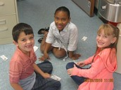 Students playing fluency games.