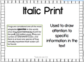 Italic Print