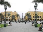 Plaza mayor de Lima.