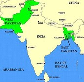 East and West Pakistan before 1971